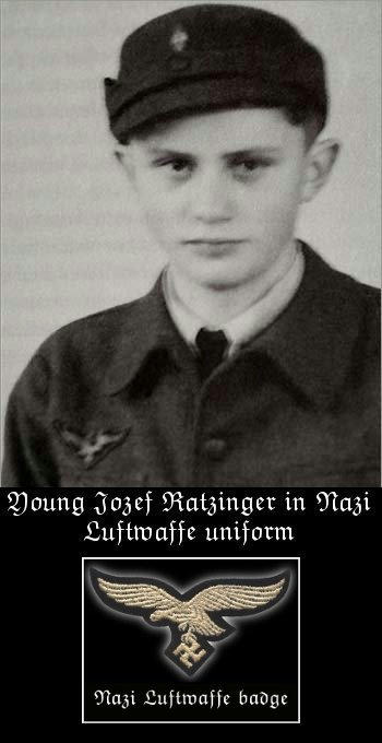 Jozef Ratzinger Benedict XVI in Nazi Luftwaffe uniform